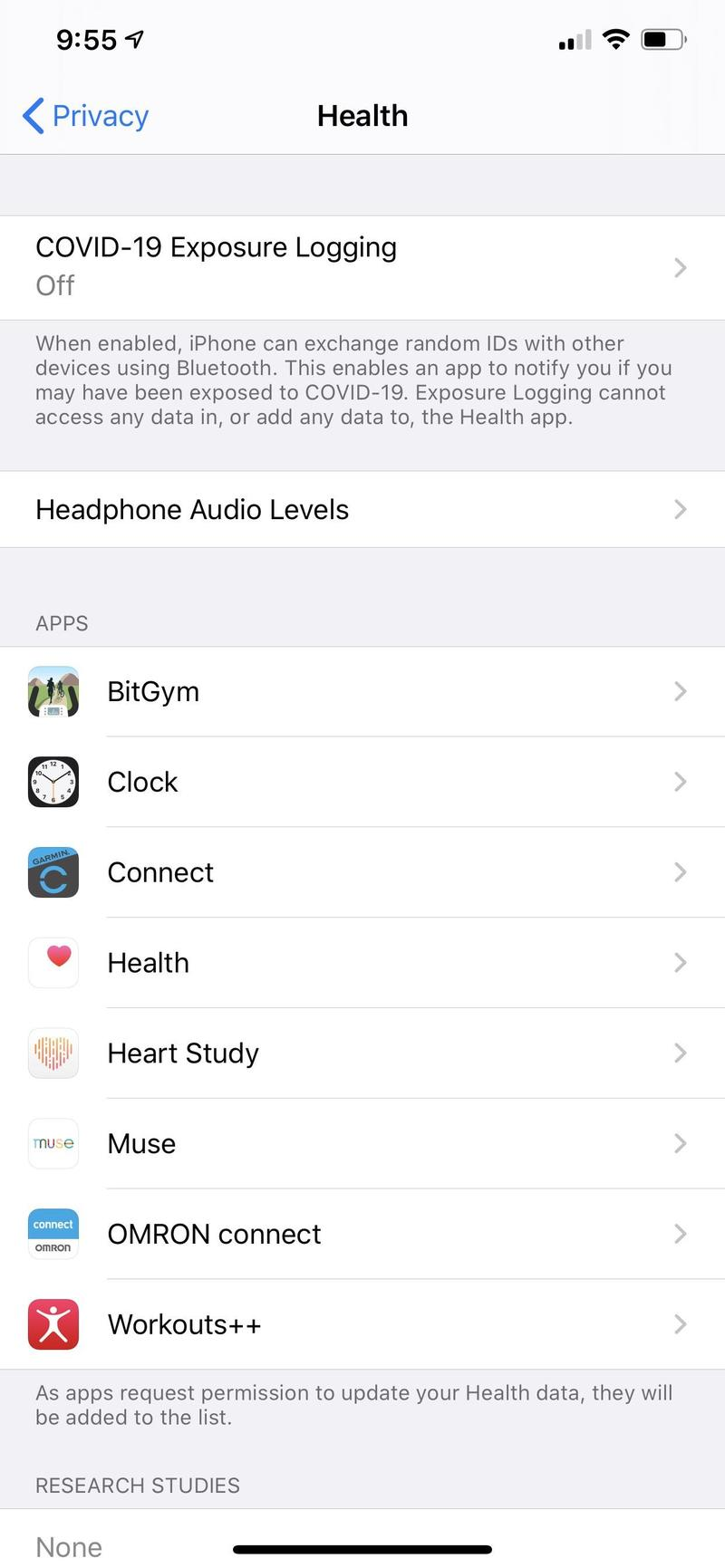 Your iPhone Covid Tracking